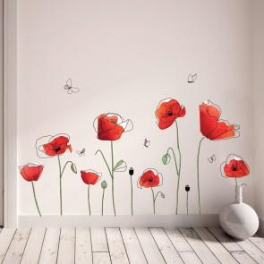 """""""Aguonų drugeliai"""" sienos lipdukas 22948299"""